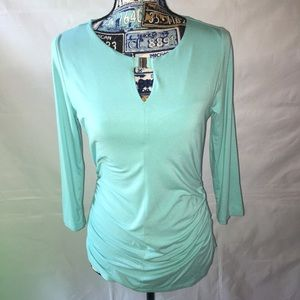 "VINCE CAMUTO 3/4""sleeve scoop neck knit top SMALL"